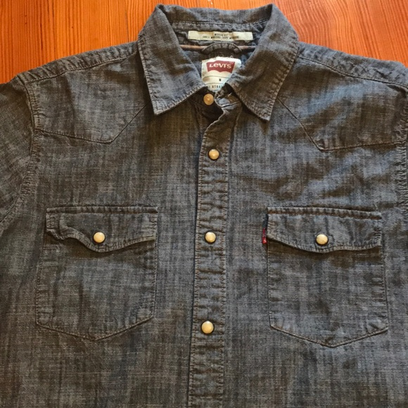 Levi S Shirts Levis Modernfit Mens New Country Western Shirt M